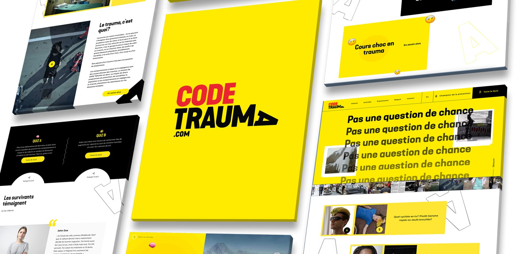 A successful challenge for Code Trauma's website: making a mark, attracting young audiences and educating them on risky behaviours!